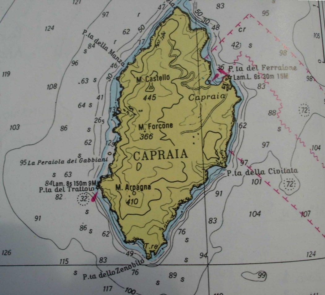 Capraia Insel im Toskanischen Archipel